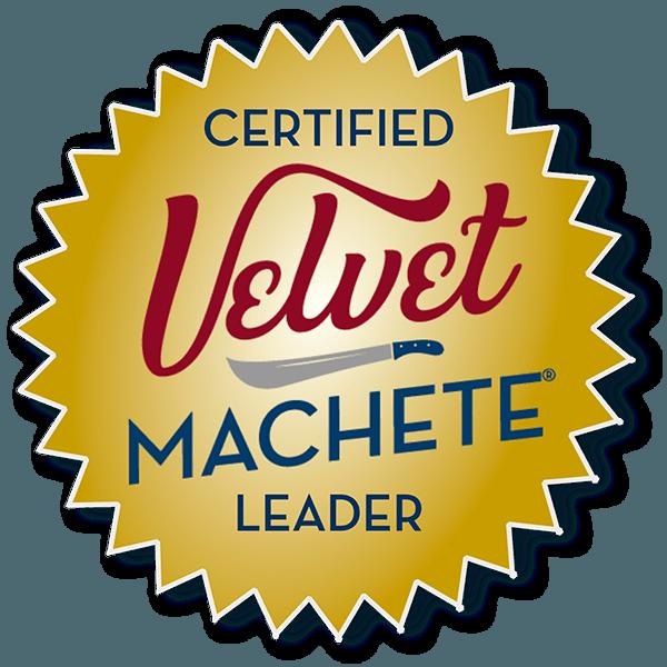 certified Velvet Machete Leader badge